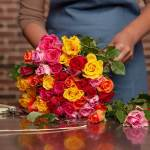 Rose Red Yellow Orange And Pink 25 Flower, Venera Flowers, online flower delivery dubai