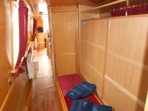 The new bed installation on Don Giovanni so that we can get 2 king sized memory foamed beds into the boat.