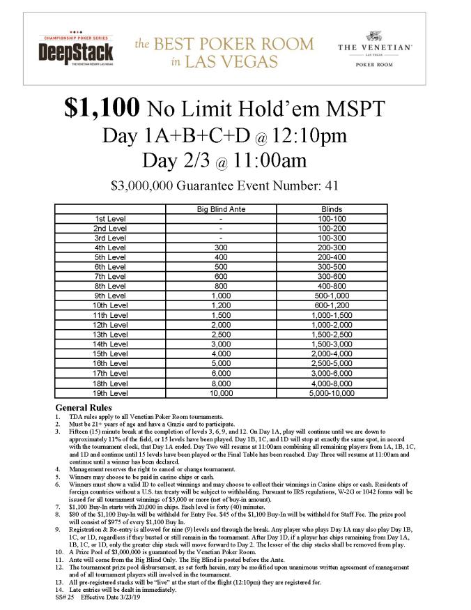 DCPS $1100 NL MSPT