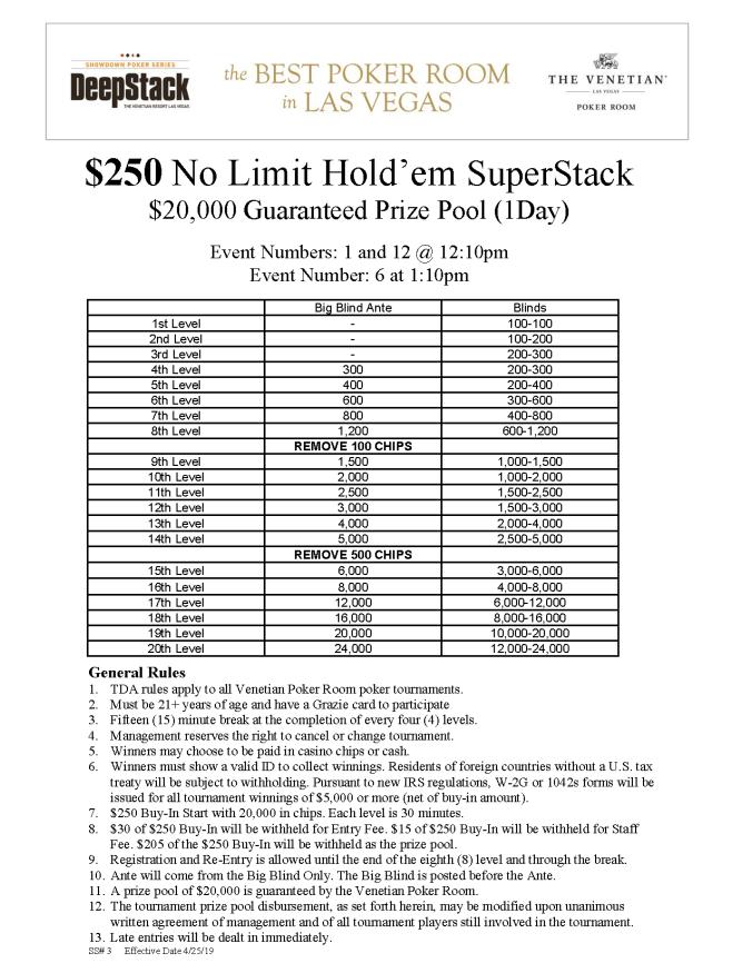 DSA $250 NL SuperStack