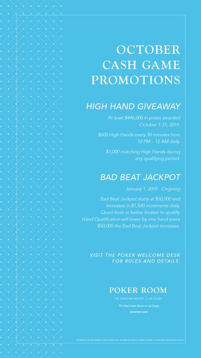 October cash promotion