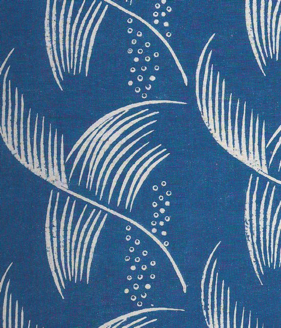 Dorothy Larcher, Small Feather, block printed linen, 1930s