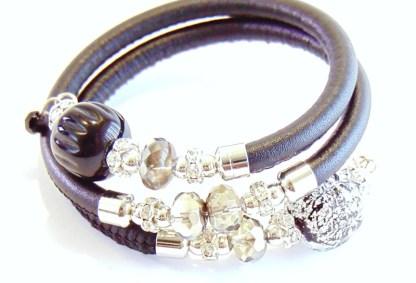 Bracciale Rugiada Black Silver