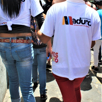 Although the Pride March does not belong to any specific political tendencies, some marchers identified as members of the Venezuelan United Socialist Party (PSUV).