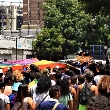 The Pride March streched over 6 blocks of the Av. Francisco Solano López