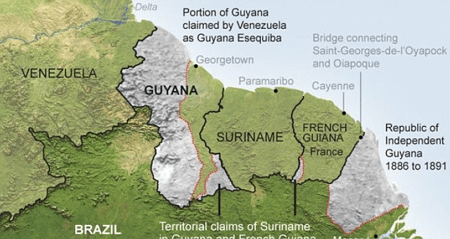 The disputed Essequibo strip makes up 74 percent of Guyana's territory. (Archive)