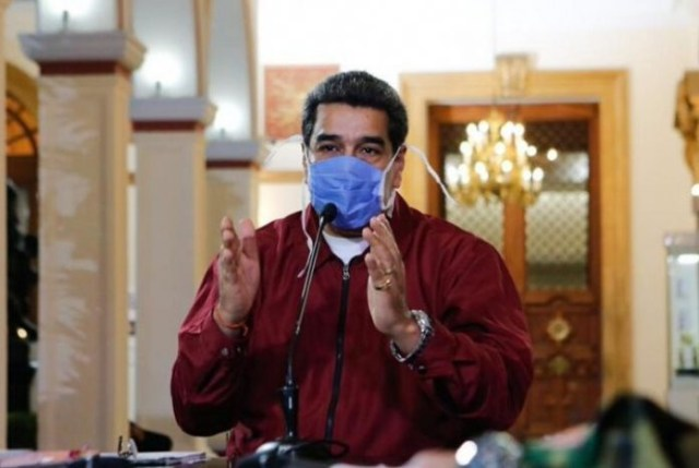 President Nicolas Maduro has made facemask use obligatory in all public spaces, as well as applying a national lockdown on the country to prevent the spread of the COVID-19 virus. (@PrensaPresidencial / Twitter)