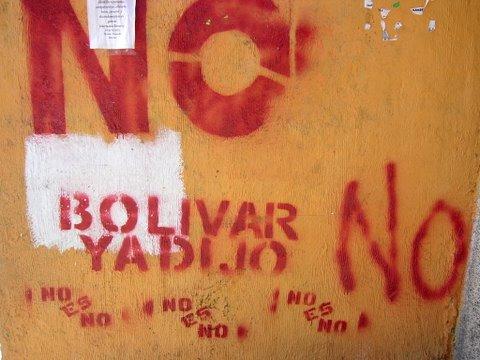 """""""Bolivar a déjà dit non"""""""