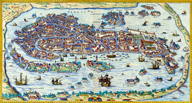 Risultati immagini per venezia mappa storica