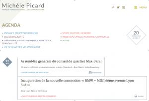 Agenda inauguration – Michèle Picard