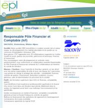 Fédération des Entreprises publiques locales   Les offres d emploi   Responsable Pôle Financier et Comptable  h f   SACOVIV  Rhône Alpes