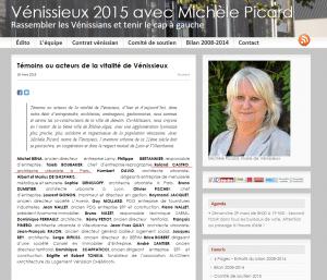 Témoins ou acteurs de la vitalité de Vénissieux   Vénissieux 2015 avec Michèle Picard