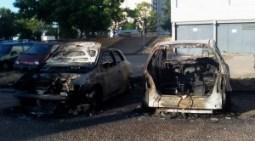 voituresincendiée martyrs de la résistance