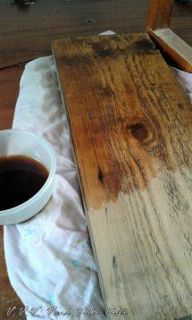 fa öregítése kávéval