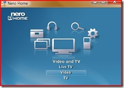 Select Video in Video and TV