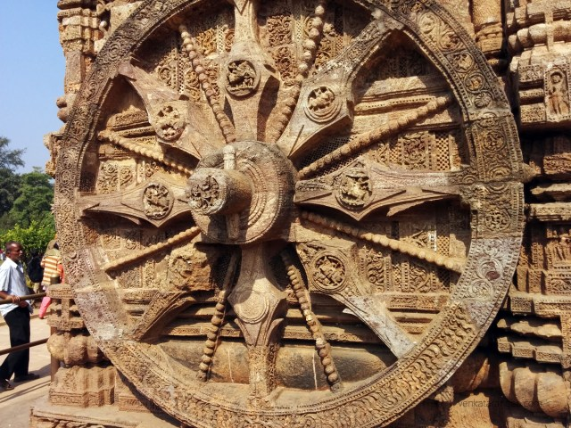 Konark Sun Temple - every side of the chariot, you see intricately carved wheels
