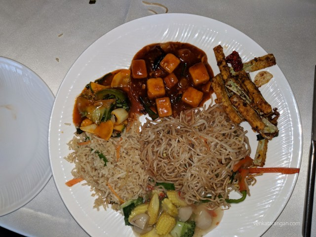 Vegetable Lhothe, Spring Roll, Crispy Lotus Stem (the speciality of this place), Fried Rice, Vegetable Noodles, Tofu & Mixed Vegetable