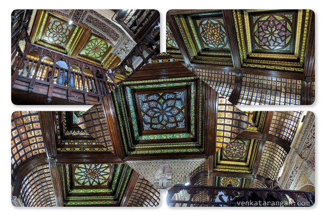 More pictures of the roof inside Connemara Public Library, Madras, India