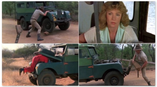 This Jeep plays an important role in the film, it even gets up to the top of a tree!