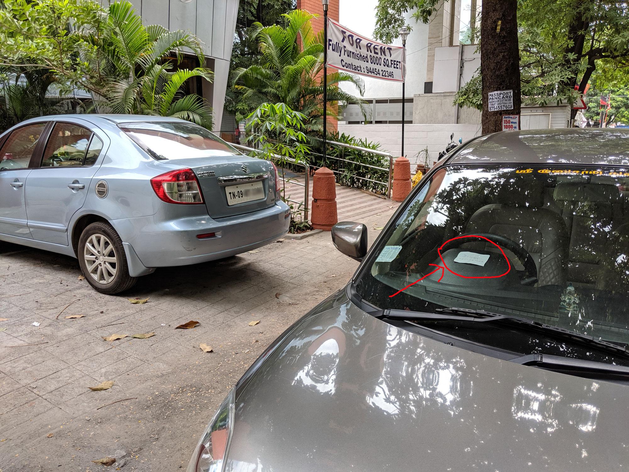 Illegal car parking