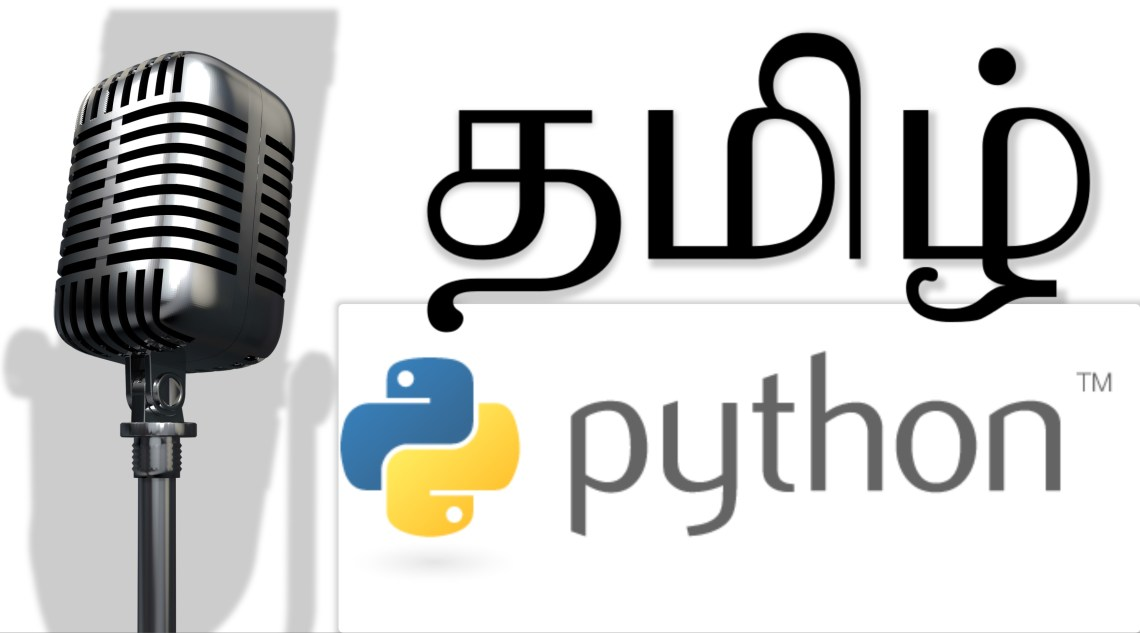 Sample in Python for Tamil Speech
