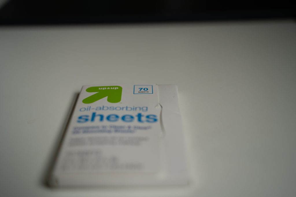 70 sheets of Up & Up brand oil absorbing sheets. That's all you need to know.