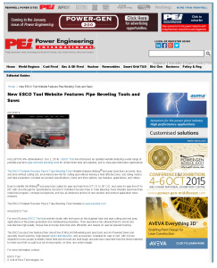 New ESCO Tool Website Features Pipe Beveling Tools and Saws - Power Engineer_Page_1