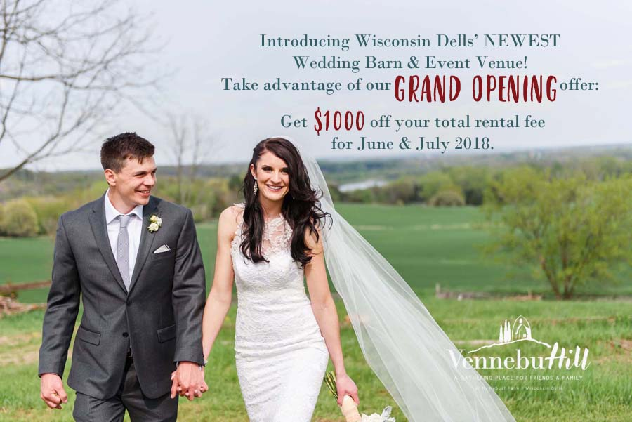 take advantage of vennebu hill s grand opening wedding packages