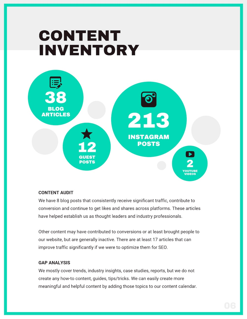 Creative Content Marketing Strategy Plan Template