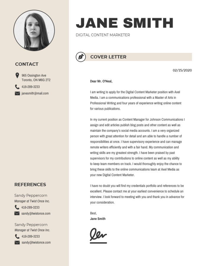 20 Creative Cover Letter Templates To Impress Employers Venngage