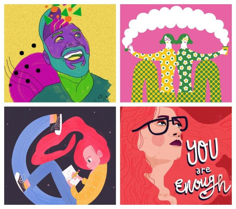 Graphic Design Trends 2020 - Abstract Illustrations 5