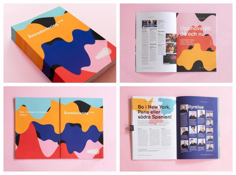 Graphic Design Trends- Flowing Shapes 2