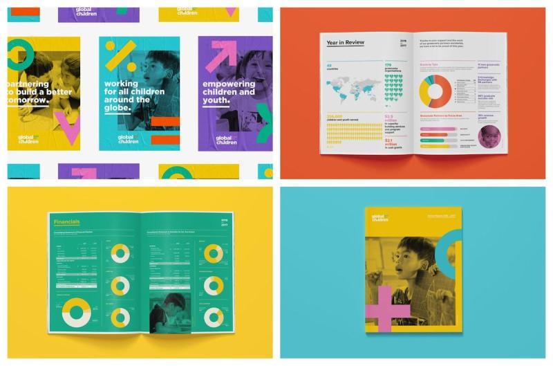 Graphic Design Trends - Pops of Vivid Colors 1