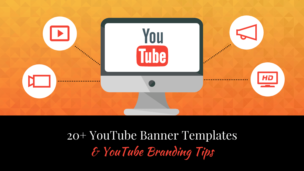 As you get started on your banner design, make sure you leave a little extra room for social media links. 20 Youtube Banner Templates Youtube Branding Tips Venngage