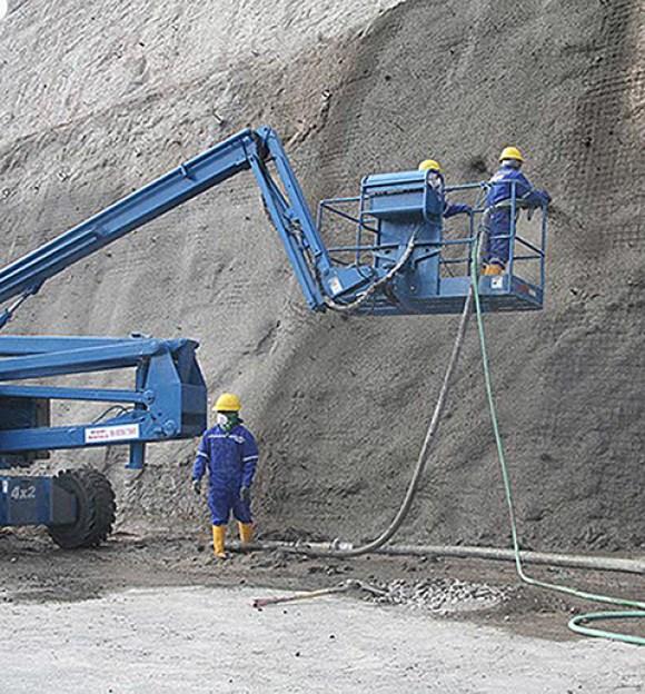 Servicio de Anclajes, drenajes, malla, hormigón lanzado Quito-Guayaquil-Ecuador
