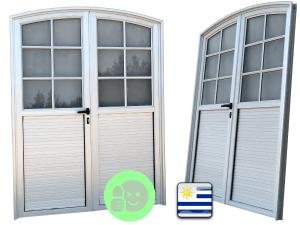 puertas curvas de aluminio