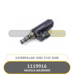 1119916 VALVULA SOLENOIDE 320C 312C 320B CATERPILLAR