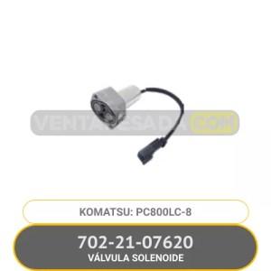 702-21-07620 VÁLVULA SOLENOIDE PC800LC-8 KOMATSU