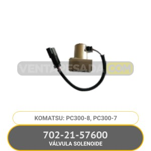 702-21-57600 VÁLVULA SOLENOIDE PC300-8, PC300-7, KPOMATSU