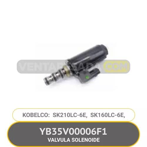 YB35V00006F1 VALVULA SOLEONIDE SK210LC-6E SK160LC-6E KOBELCO