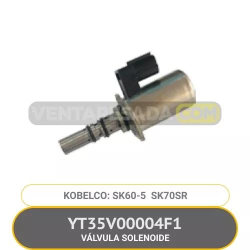 YT35V00004F1 VÁLVULA SOLENOIDE SK60-5 SK70SR KOBELCO