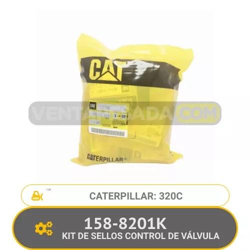 158-8201K KIT DE SELLOS CONTROL DE VÁLVULA 320C CATERPILLAR