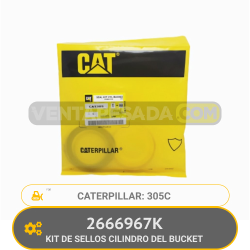 2666967K KIT DE SELLOS CILINDRO DEL BUCKET 305C CATERPILLAR