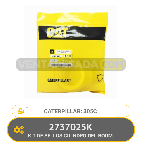 2737025K KIT DE SELLOS CILINDRO DEL BOOM 305C CATERPILLAR