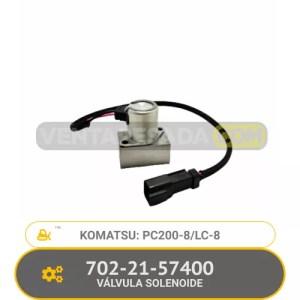 702-21-57400 VÁLVULA SOLENOIDE PC200-8/LC-8 KOMATSU