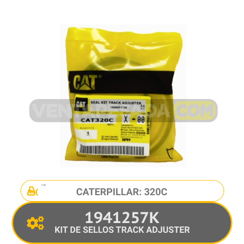 1941257K KIT DE SELLOS TRACK ADJUSTER 320C CATERPILLAR