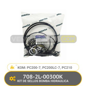 708-2L-00300K KIT DE SELLOS BOMBA HIDRAULICA PC200-7, PC200LC-7, PC210 KOMATSU