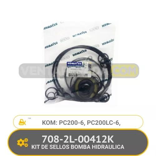 708-2L-00412K KIT DE SELLOS BOMBA HIDRAULICA PC200-6, PC200LC-6, KOMATSU