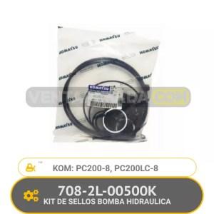 708-2L-00500K KIT DE SELLOS BOMBA HIDRAULICA PC200-8, PC200LC-8, KOMATSU