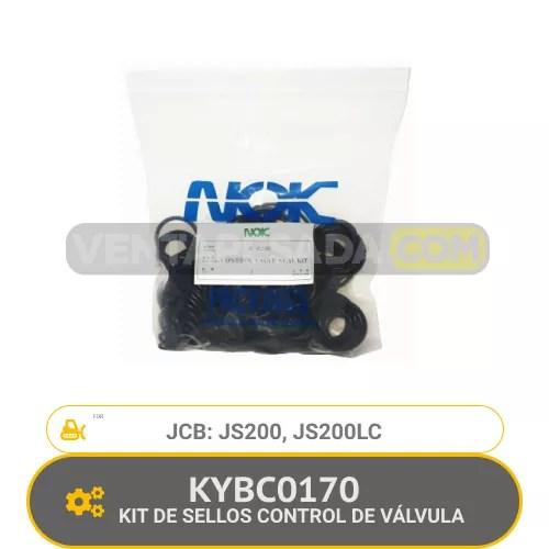 KYBC0170 KIT DE SELLOS CONTROL DE VÁLVULA JS200, JS200LC JCB